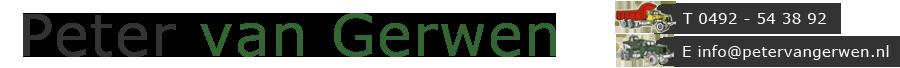 Peter van Gerwen Containers Grondwerk en Autobedrijf